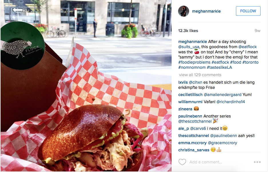 We love Meghan's love of Toronto fare!